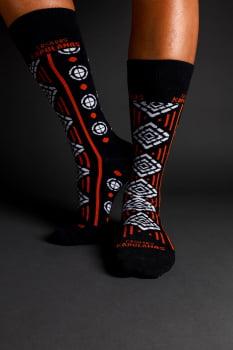 Meia Africana Estampada Tribal Laranja