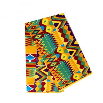 Tecido Africano Estampado Kente - 09